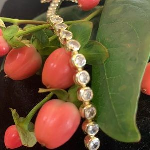 ❣️18k gold plated❣️10 CTW cubic zirconia bracelet